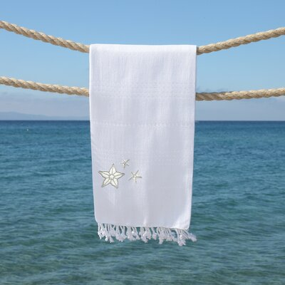Sandspur Glittery Pestemal Beach Towel Color: White