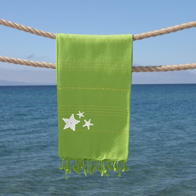 Sandspur Glittery Pestemal Beach Towel Color: Pistachio