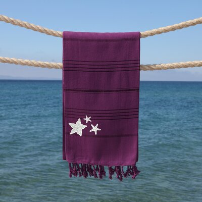 Sandspur Glittery Pestemal Beach Towel Color: Purple