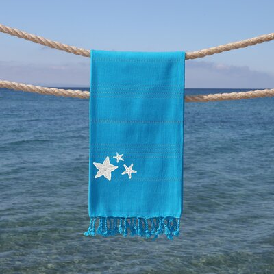 Sandspur Glittery Pestemal Beach Towel Color: Turquoise