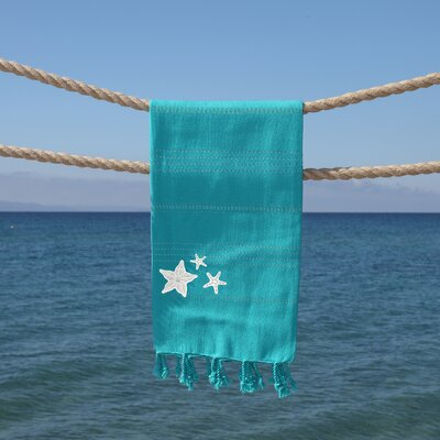 Sandspur Glittery Pestemal Beach Towel Color: Aqua Green