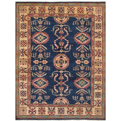 One-of-a-Kind Holford Hand-Woven Wool Dark Navy Area Rug