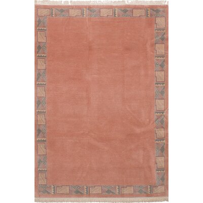 One-of-a-Kind Wheless Hand-Woven Wool Copper Area Rug