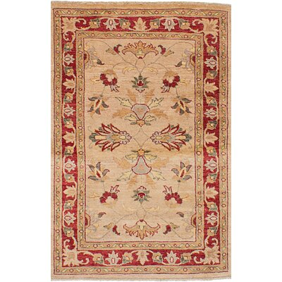 One-of-a-Kind Huddleston Hand-Woven Wool Tan Area Rug