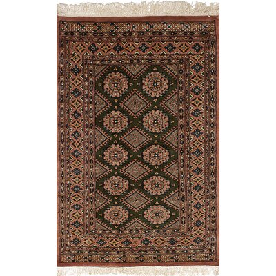 One-of-a-Kind Wherry Peshawar Bokhara Hand-Woven Wool Tan Area Rug