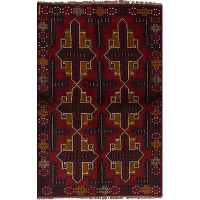 One-of-a-Kind Hollaway Hand-Woven Wool Red Area Rug