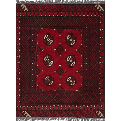 One-of-a-Kind Whalen Khal Mohammadi Hand-Woven Wool Red Area Rug