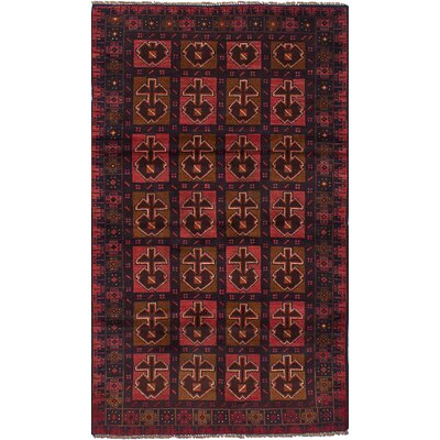 One-of-a-Kind Ocasio Hand-Woven Wool Dark Copper/Dark Navy Area Rug