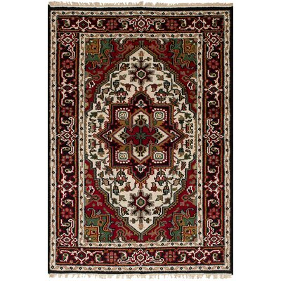 One-of-a-Kind Hohl Hand-Woven Wool Red Area Rug