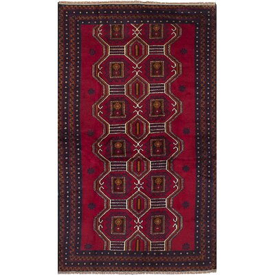 One-of-a-Kind Ocasio Hand-Woven Wool Red Area Rug
