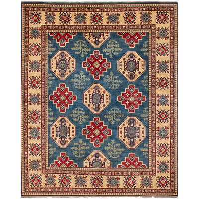 One-of-a-Kind Holford Hand-Woven Wool Blue Area Rug