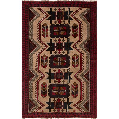 One-of-a-Kind Ocasio Hand-Woven Wool Light Khaki Area Rug