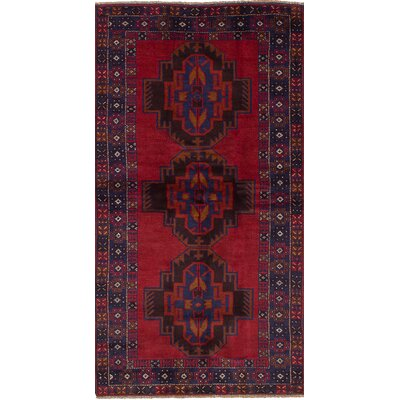 One-of-a-Kind Holle Hand-Woven Wool Red Area Rug