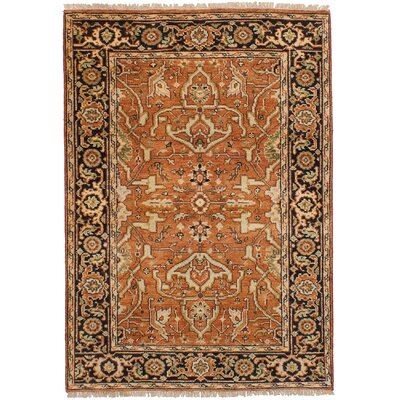 One-of-a-Kind Holcombe Hand-Woven Wool Copper Area Rug