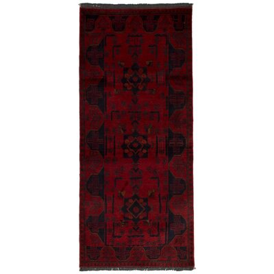 One-of-a-Kind Whisenant Khal Mohammadi Hand-Woven Wool Red Area Rug