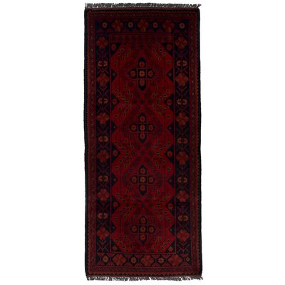 One-of-a-Kind Whisenhunt Finest Khal Mohammadi Hand-Woven Wool Red Area Rug