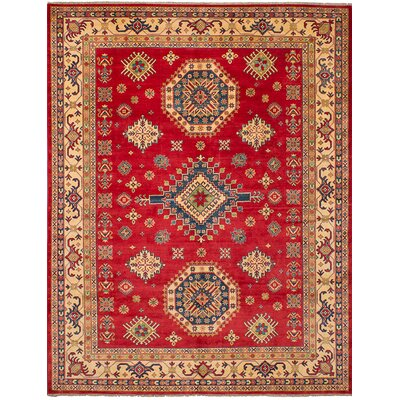 One-of-a-Kind Holford Hand-Woven Wool Red Area Rug