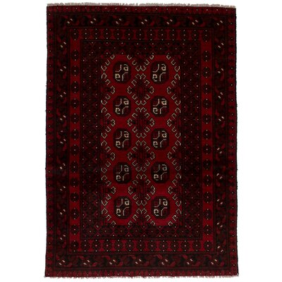One-of-a-Kind Whisnant Khal Mohammadi Hand-Woven Wool Red Area Rug