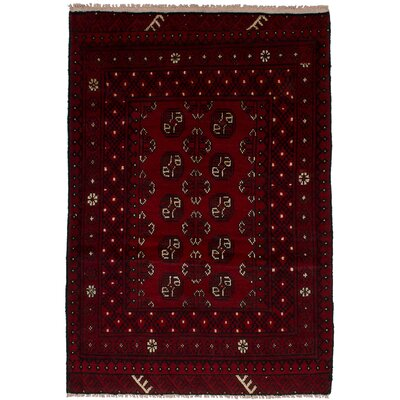 One-of-a-Kind Whitbeck Khal Mohammadi Hand-Woven Wool Dark Red Area Rug