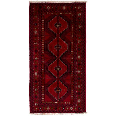 One-of-a-Kind Whitchurch Baluch Hand-Woven Wool Red Area Rug
