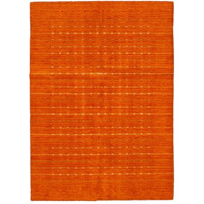 One-of-a-Kind Oldsmar Hand-Woven Wool Orange Area Rug
