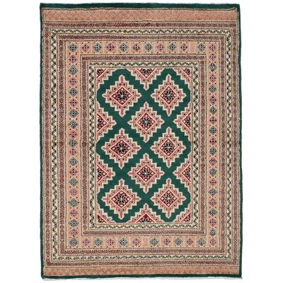 One-of-a-Kind Whiteaker Peshawar Bokhara Hand-Woven Wool Tan Area Rug
