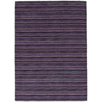 One-of-a-Kind Spurrier Hand-Woven Wool Purple Area Rug