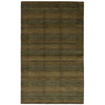 One-of-a-Kind Oldsmar Hand-Woven Wool Khaki/Teal Area Rug
