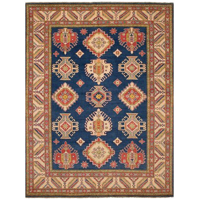 One-of-a-Kind Holford Hand-Woven Wool Brown/Blue Area Rug