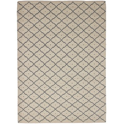 One-of-a-Kind Grube Hand-Woven Wool Cream Area Rug