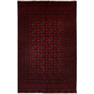 One-of-a-Kind Oliveri Hand-Woven Wool Dark Red Area Rug
