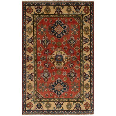 One-of-a-Kind Holford Hand-Woven Wool Dark Copper Area Rug