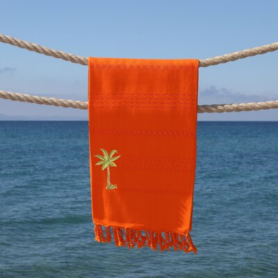 Sandspur Breezy Pestemal Beach Towel Color: Dark Orange