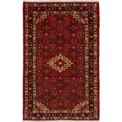 One-of-a-Kind Whitehall Hosseinabad Hand-Woven Wool Red Area Rug