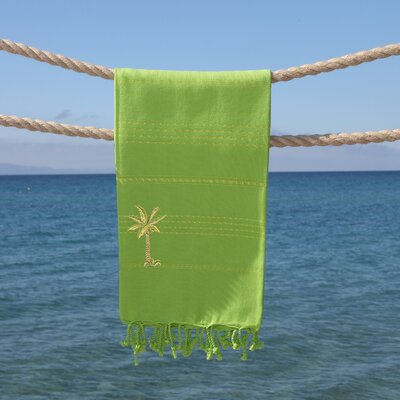 Sandspur Breezy Pestemal Beach Towel Color: Pistachio