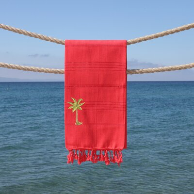 Sandspur Breezy Pestemal Beach Towel Color: Coral