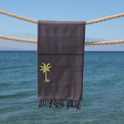 Sandspur Breezy Pestemal Beach Towel Color: Gray