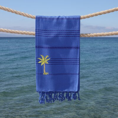 Sandspur Breezy Pestemal Beach Towel Color: Royal Blue
