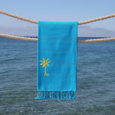 Sandspur Breezy Pestemal Beach Towel Color: Turquoise