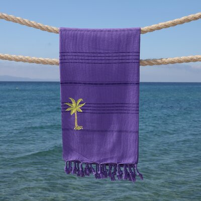 Sandspur Breezy Pestemal Beach Towel Color: Lilac