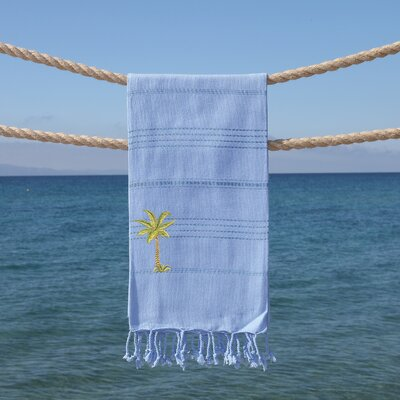 Sandspur Breezy Pestemal Beach Towel Color: Sky Blue