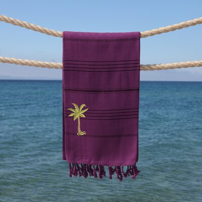 Sandspur Breezy Pestemal Beach Towel Color: Purple
