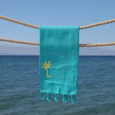 Sandspur Breezy Pestemal Beach Towel Color: Aqua Green