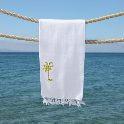 Sandspur Breezy Pestemal Beach Towel Color: White
