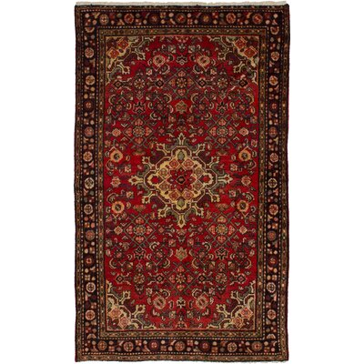 One-of-a-Kind Whitestone Hamadan Hand-Woven Wool Red Area Rug