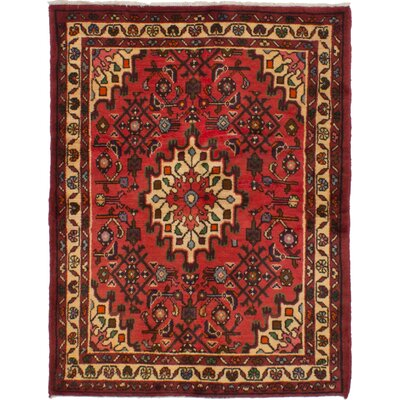 One-of-a-Kind Whiteway Hosseinabad Hand-Woven Wool Red Area Rug