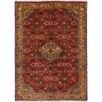One-of-a-Kind Whitford Hosseinabad Hand-Woven Wool Dark Copper Area Rug