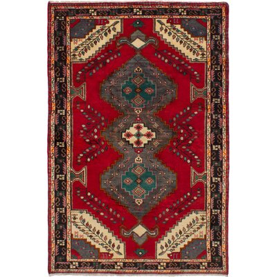One-of-a-Kind Oller Hand-Woven Wool Red Area Rug