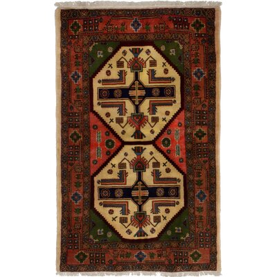 One-of-a-Kind Olmos Hand-Woven Wool Dark Copper Area Rug