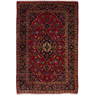 One-of-a-Kind Whitlow Kashan Hand-Woven Wool Red Area Rug